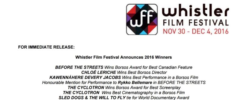 Sled Dogs ties for World Documentary Award