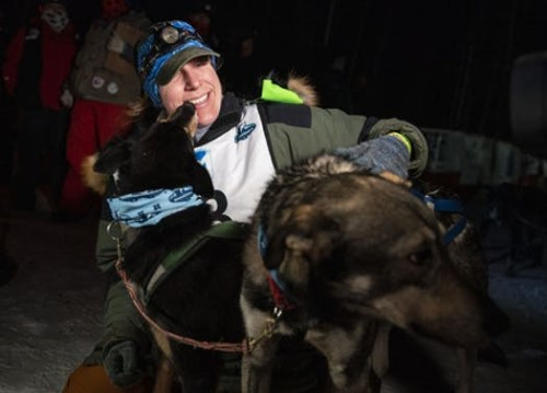 Erin Letzring won the John Beargrease Sled Dog marathon by the smallest margin in the race's history. She beat out ex-husband Ryan Redington by seven seconds on Tuesday. -- ALEX KORMANN • ALEX.KORMANN@STARTRIBUNE.COM