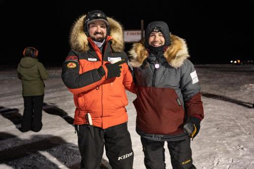 Richie Diehl (right) of Aniak is the 2021 Kuskokwim 300 Champion. This is Diehl