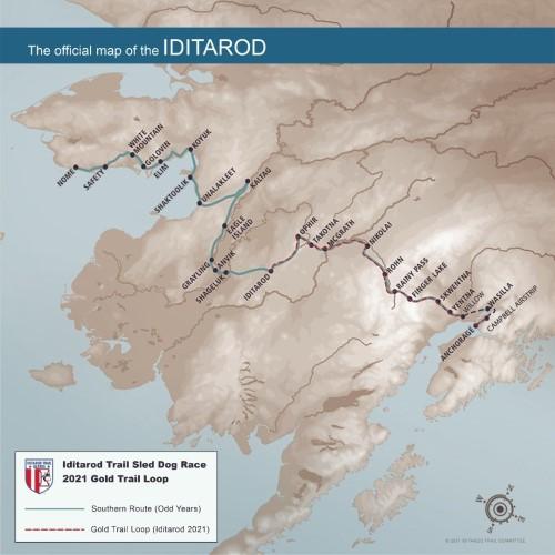 2021 Iditarod Gold Trail Loop.