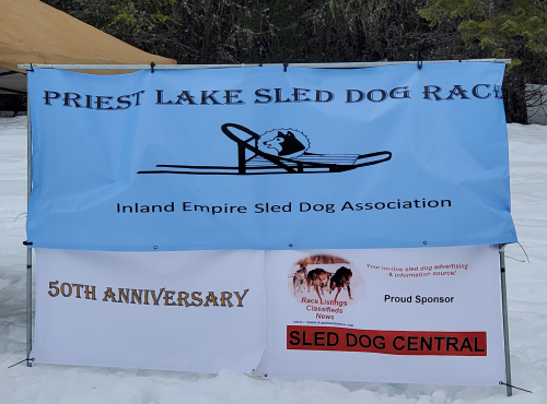 Banner for the Priest Lake Sled Dog Race